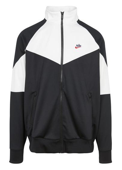 Blouson col montant Nike ColorBlock - blanc / noir (du XS au L)