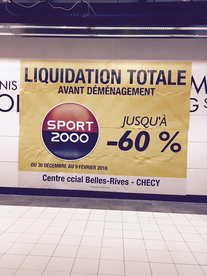 Liquidation totale : jusqu'à 60% de réduction
