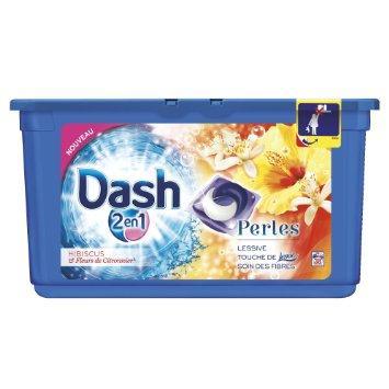 Lessive Dash 2 en 1 Perles
