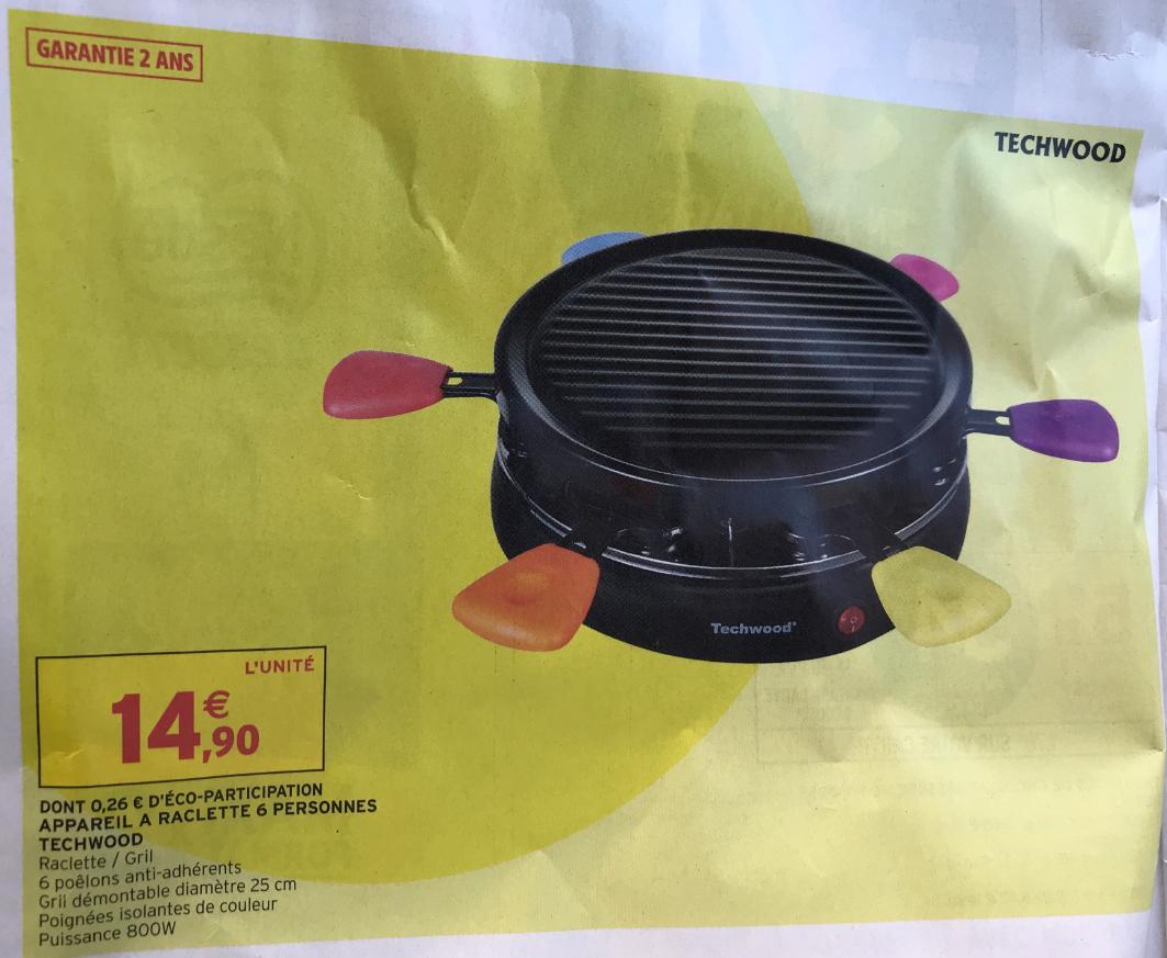 Machine à raclette Techwood - 6 personnes