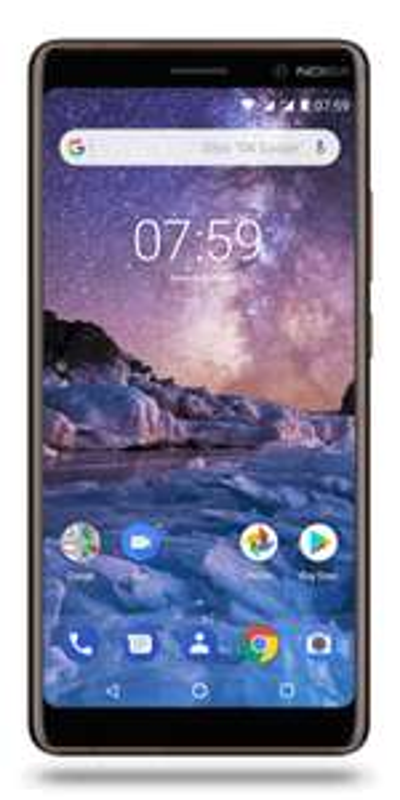 "Smartphone 6"" Nokia 7 Plus - full HD+, SnapDragon 660, 4 Go de RAM, 64 Go, noir"