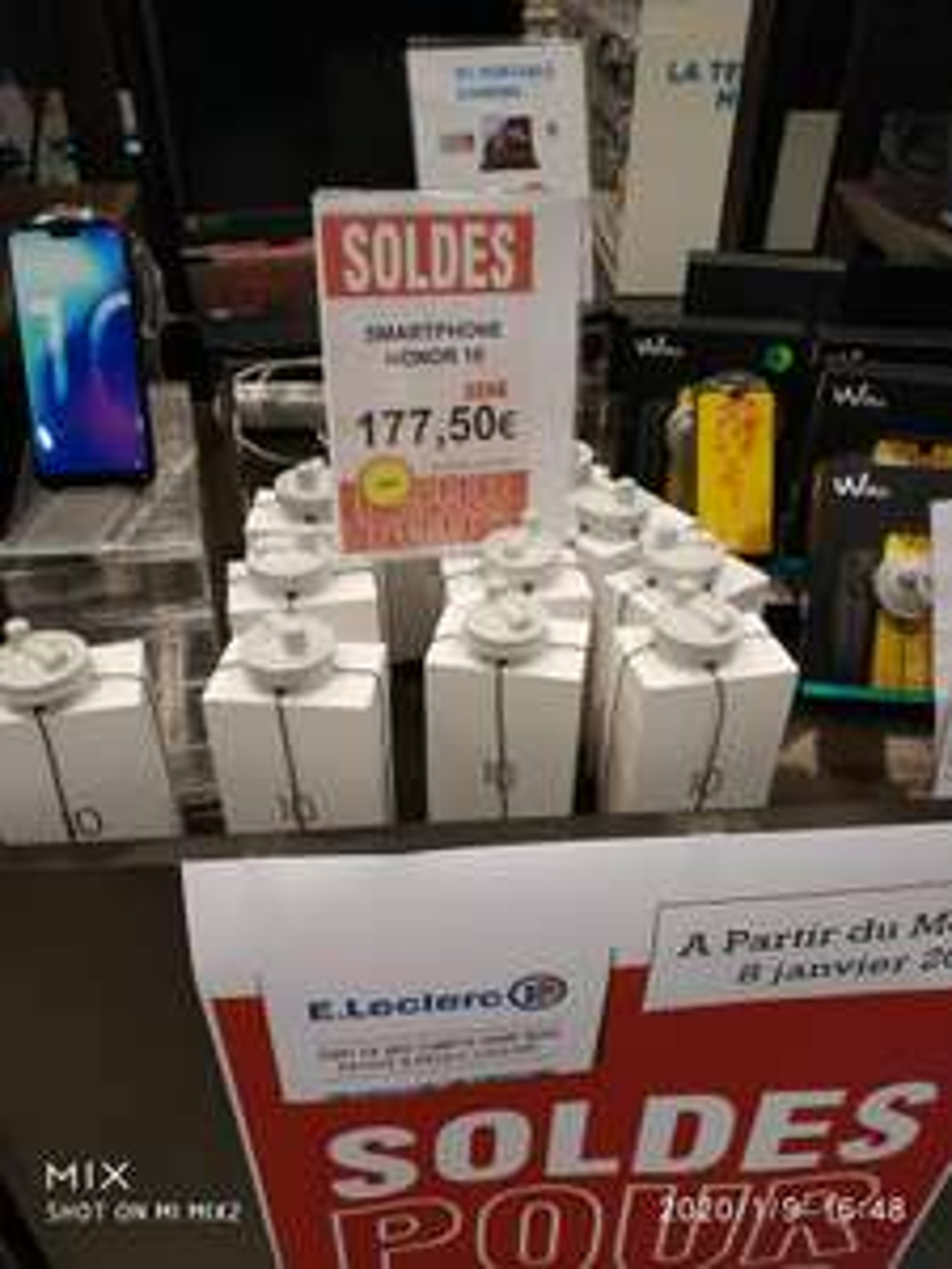"Smartphone 5,8"" Honor 10 - FHD+, Kirin 970, 4 Go de RAM, 64 Go (Luçon 85)"