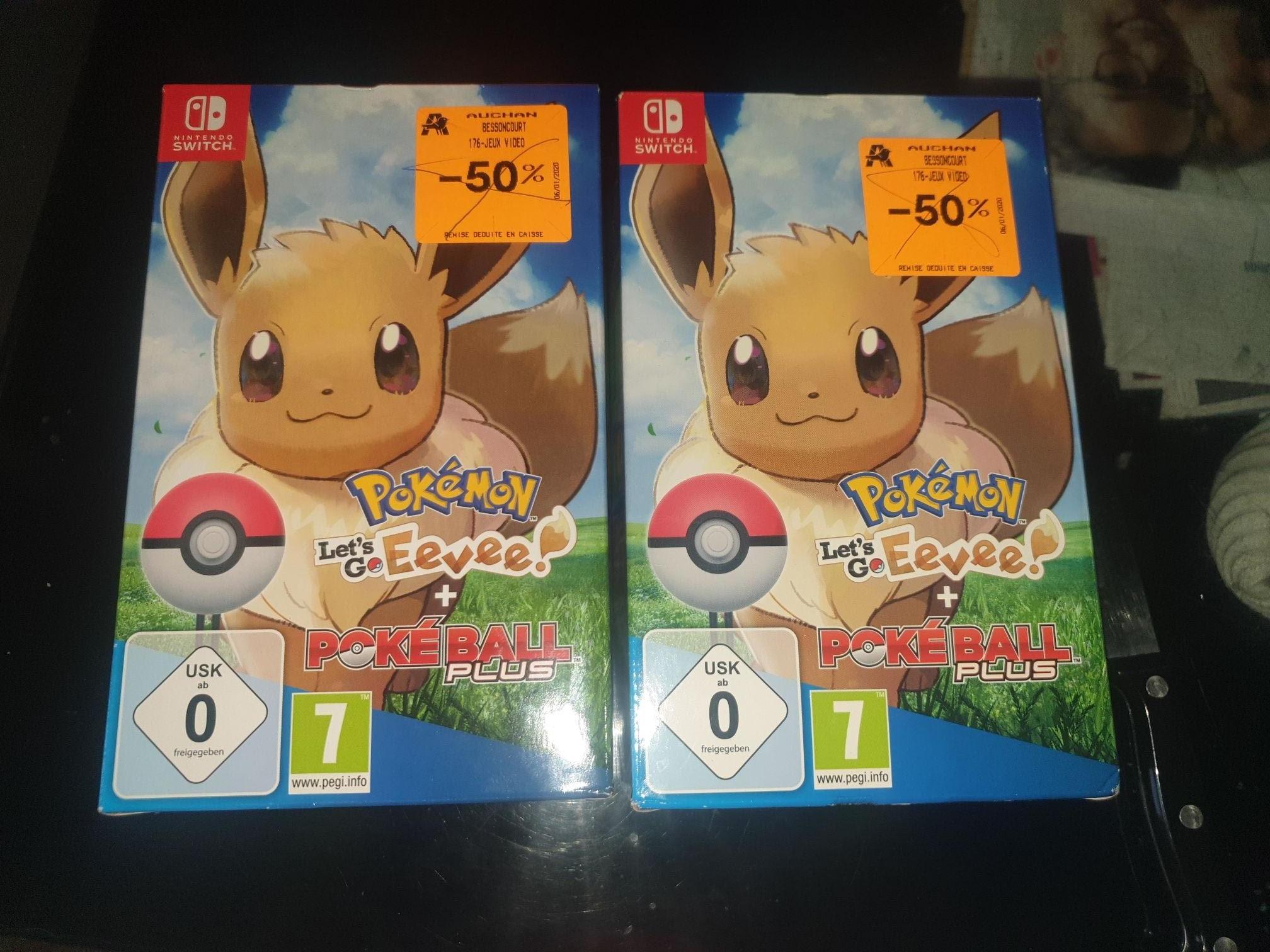 Pokémon : Let's go, Evoli + Poké Ball Plus sur Nintendo Switch (Bessoncourt 90)