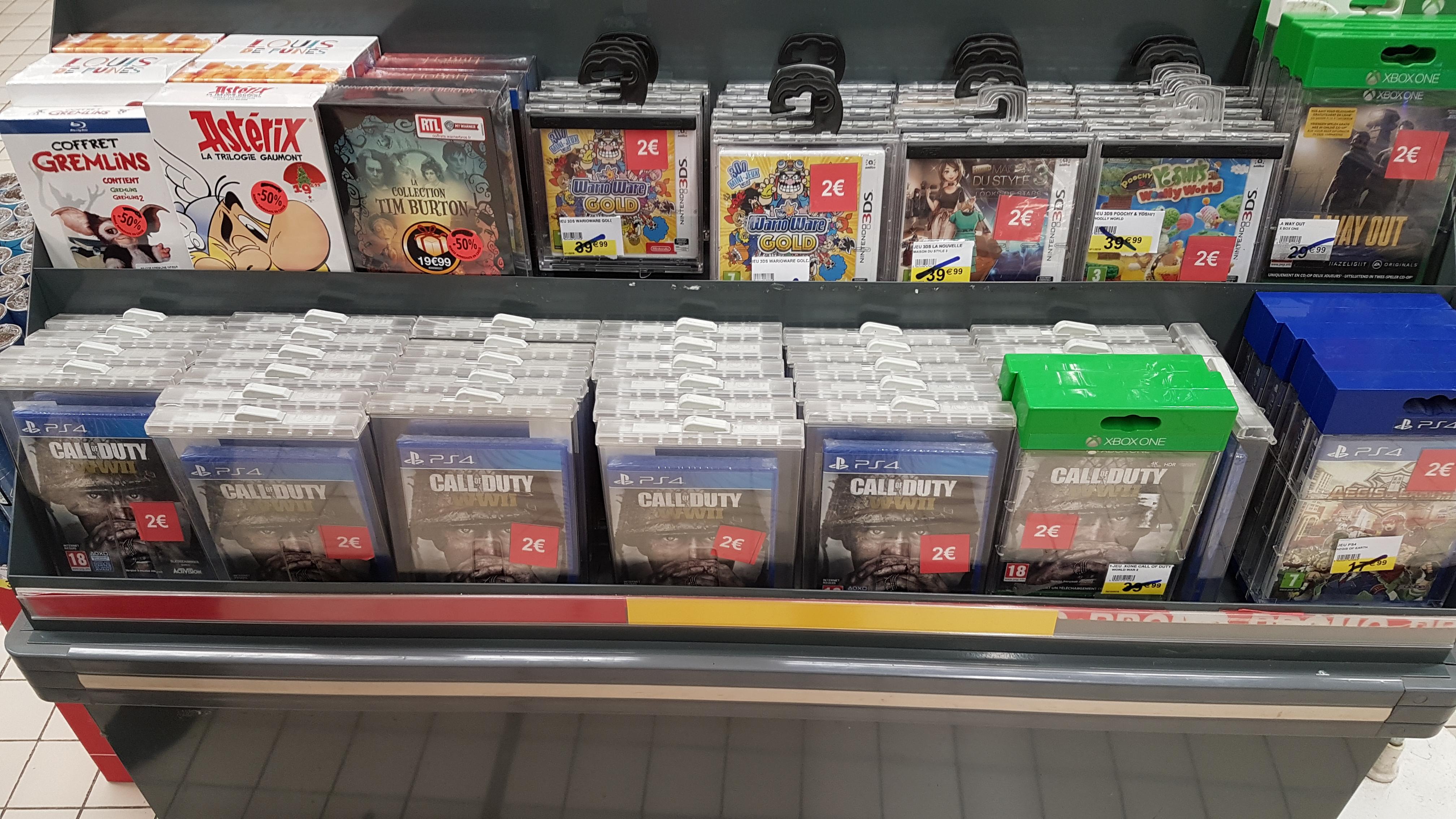 Sélection de jeux PS4/XBOX One et 3DS (plusieurs Mario) en promotion - Ex: Call of Duty WWII sur PS4 - Cambrai (59)