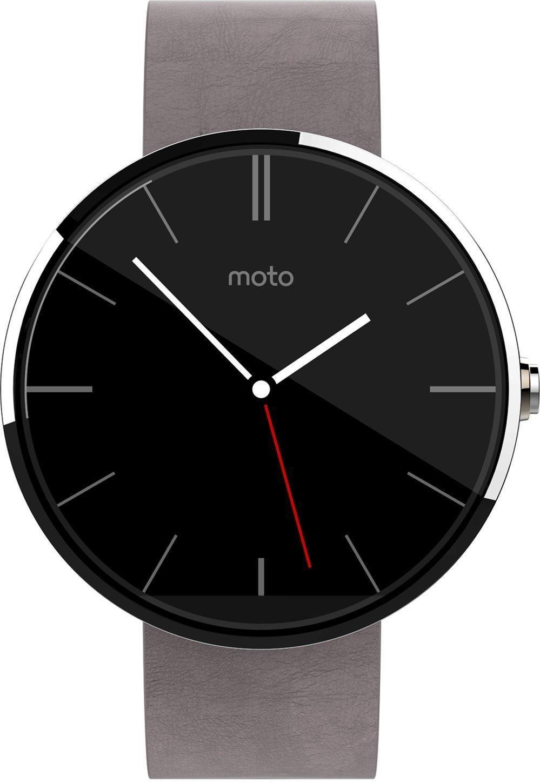 Montre connectée Motorola Moto 360 - Cuir gris