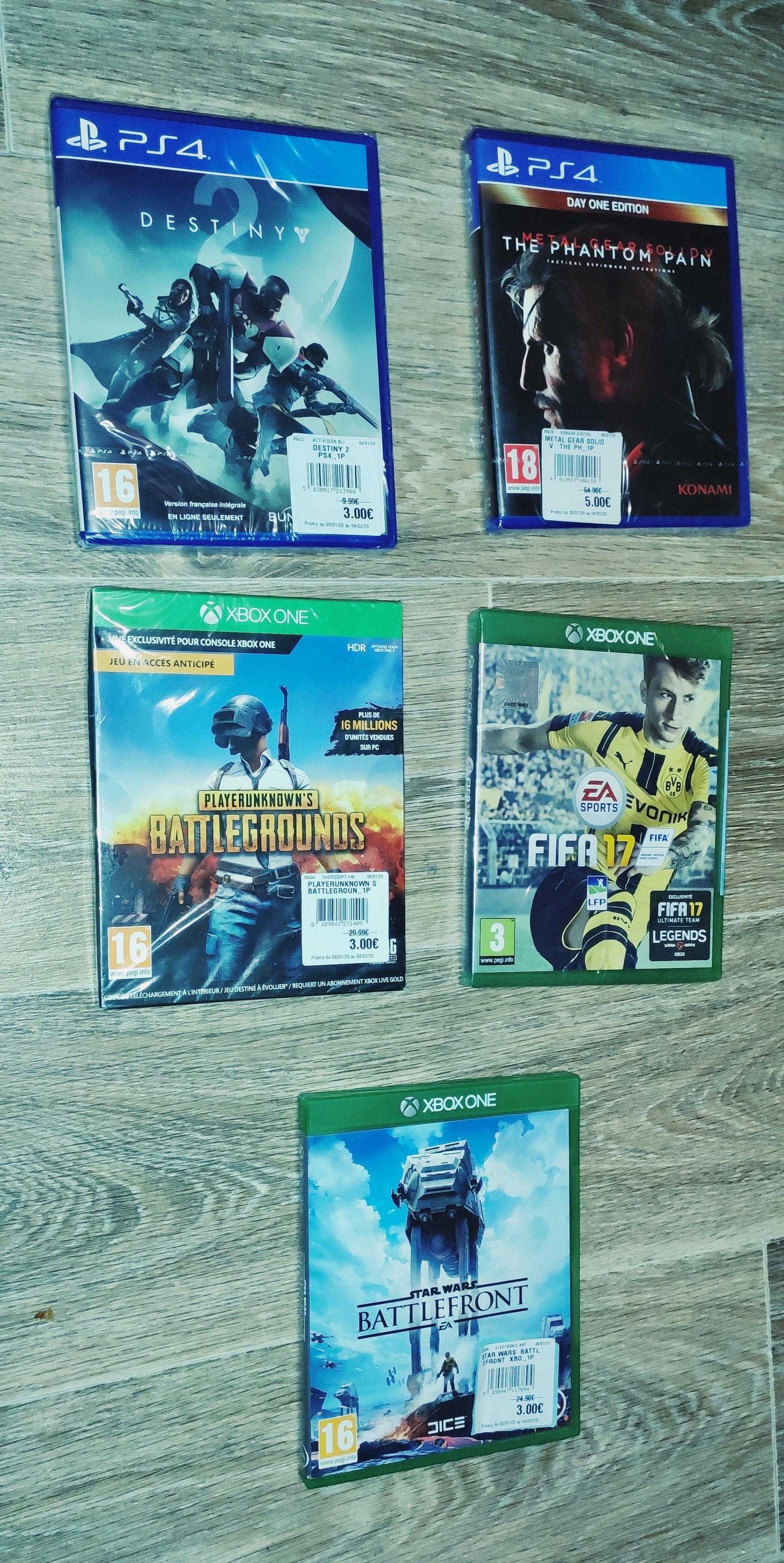 Sélection de jeux Xbox One / PS4 / WII U / en promotion - Ex: PUBG sur Xbox One - Chécy (45)