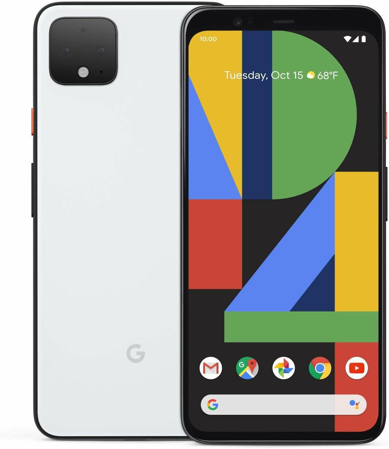 Smartphone Google Pixel 4 XL - Clearly White, 64 Go (Version US, Frais de port intégrés)
