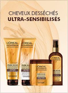 1 mois de shampooing Pure Riche Haute Expertise de l'Oréal gratuit + code de 20% de réduction