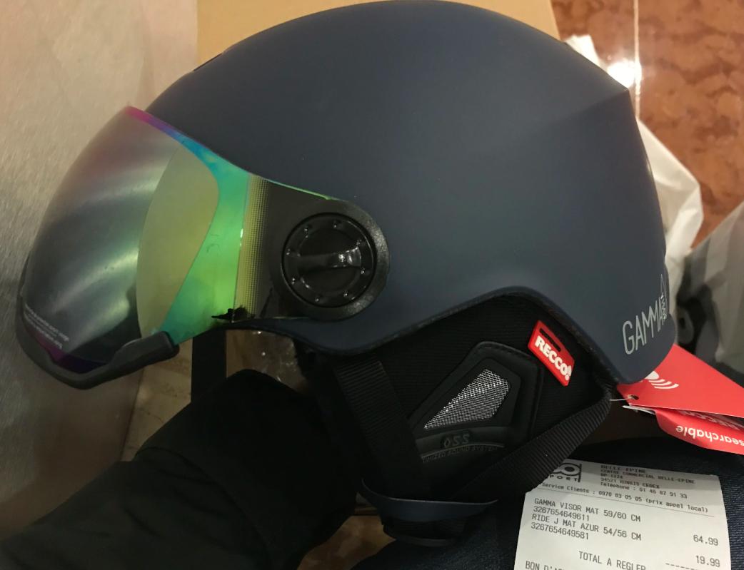 Casque de ski Gamma Visor - Belle épine(94)