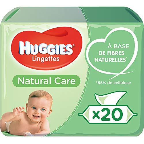Lingettes bébé Huggies Natural Care - À l'aloe vera, 56 x 20 lingettes