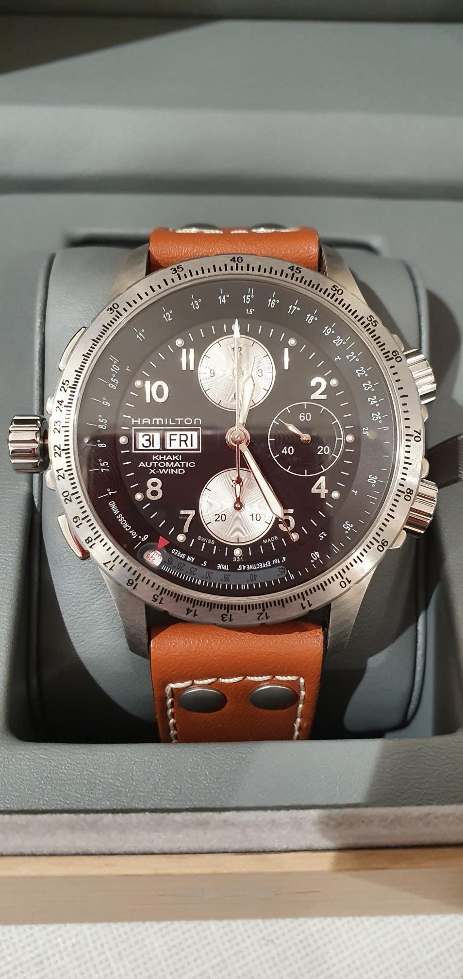 Sélection de montres Hamilton, Herberlin, Rado, Seiko, Tissot en soldes - Ex : Montre homme Hamilton khahi X Wind - Dotter Guebwiller (68)