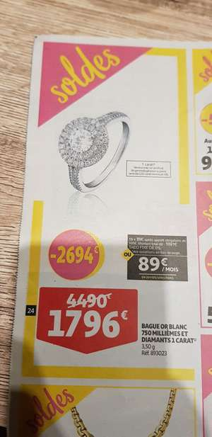 Bague Or Blanc 750 - Mulhouse (68)