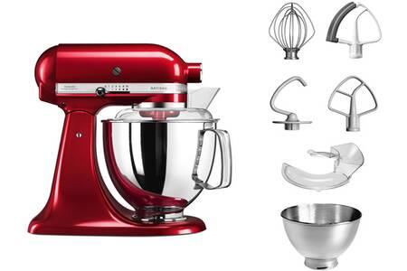Robot KitchenAid Artisan 5KSM175 Pomme d'amour + Accessoires + hachoir en métal Kitchenaid (via formulaire) - via retrait magasin