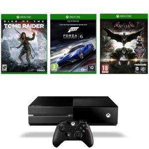Pack console Xbox One 1 To + Rise of the Tomb Raider + Forza Motorsport 6 + Batman Arkham Knigh