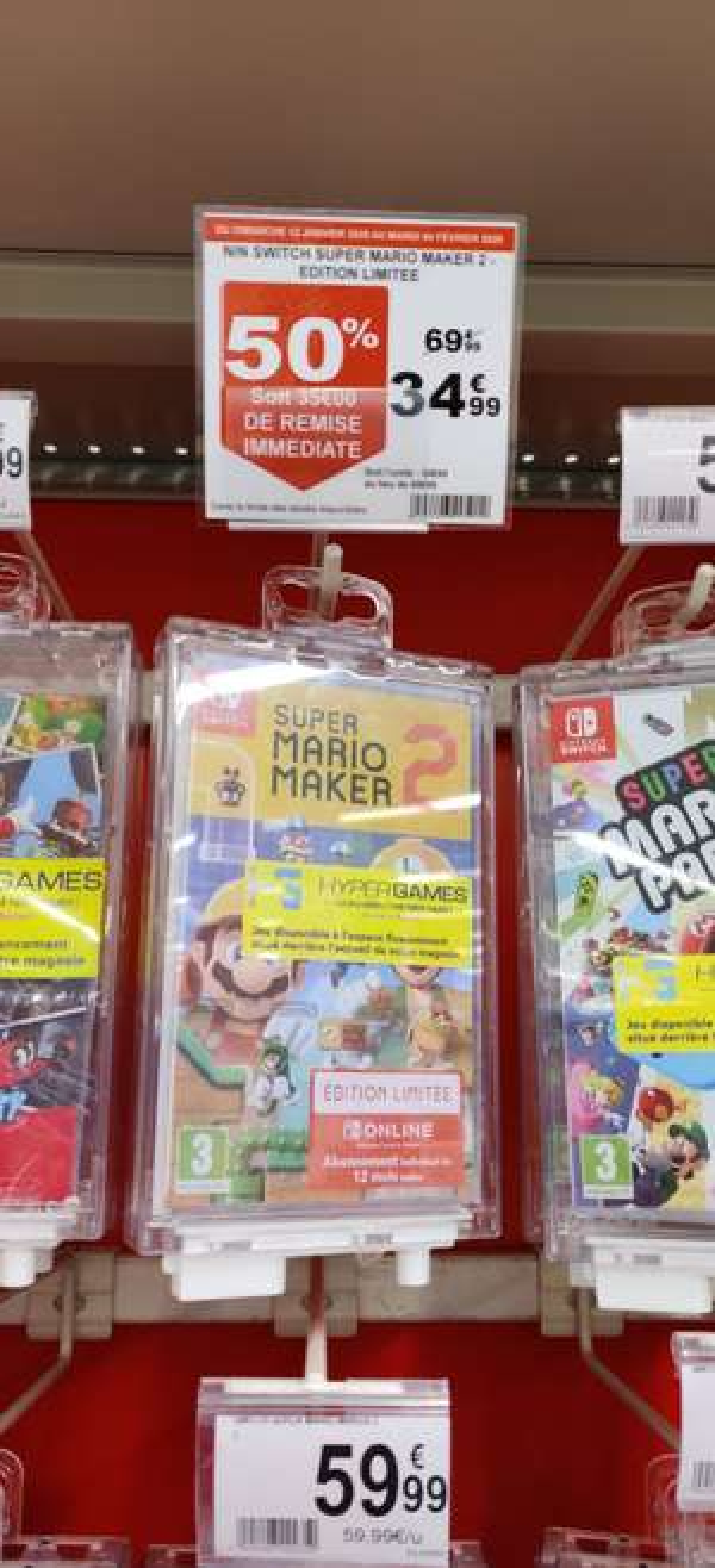 Super Mario Maker 2 sur Switch + abonnement de 12 mois au Nintendo Online - Villeneuve-d'Ascq (59)