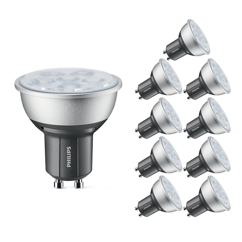 Lot de 10 Spots LED Philips - GU10 Compatible avec variateur