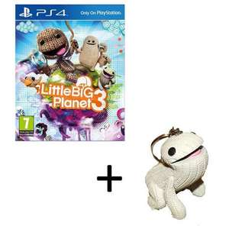 Jeu Little Big Planet 3 sur PS4 + Porte-clés Sackboy Little Big Planet