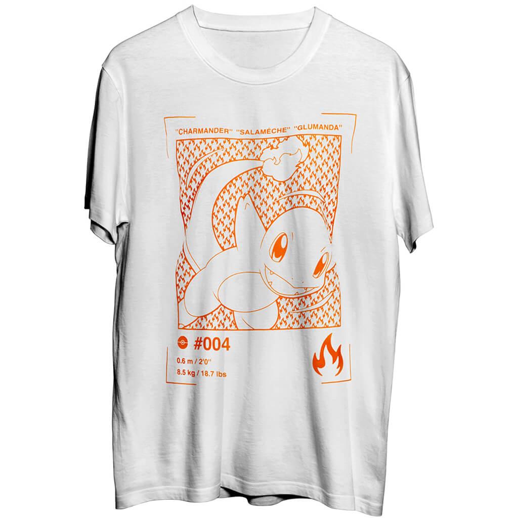 Sélection de t-shirts en soldes à 5€ - Ex : T-shirt Salamèche (Tailles au choix)
