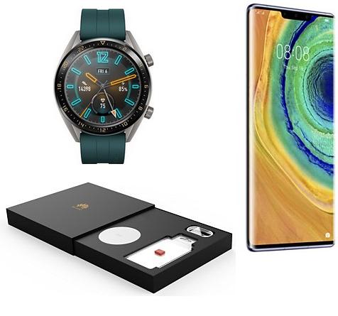 """Smartphone 6.53"""" Huawei Mate 30 Pro - 256 Go + Montre connectée Watch GT + Chargeur sans-fil + Nano SD 128Go (Sans Google Play)"""