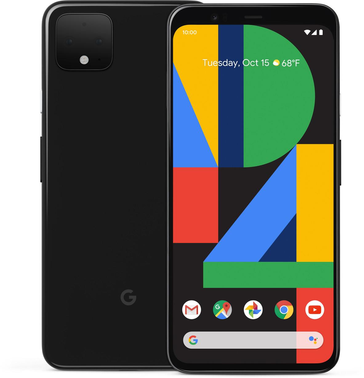 "Smartphone 6.3"" Google Pixel 4 XL - WQHD+, SnapDragon 855, 6 Go de RAM, 64 Go, Android 10, blanc ou noir"