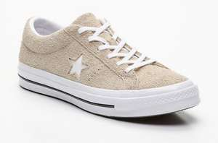 Baskets Converse One Star Ox - cuir beige (Tailles 42 à 45)