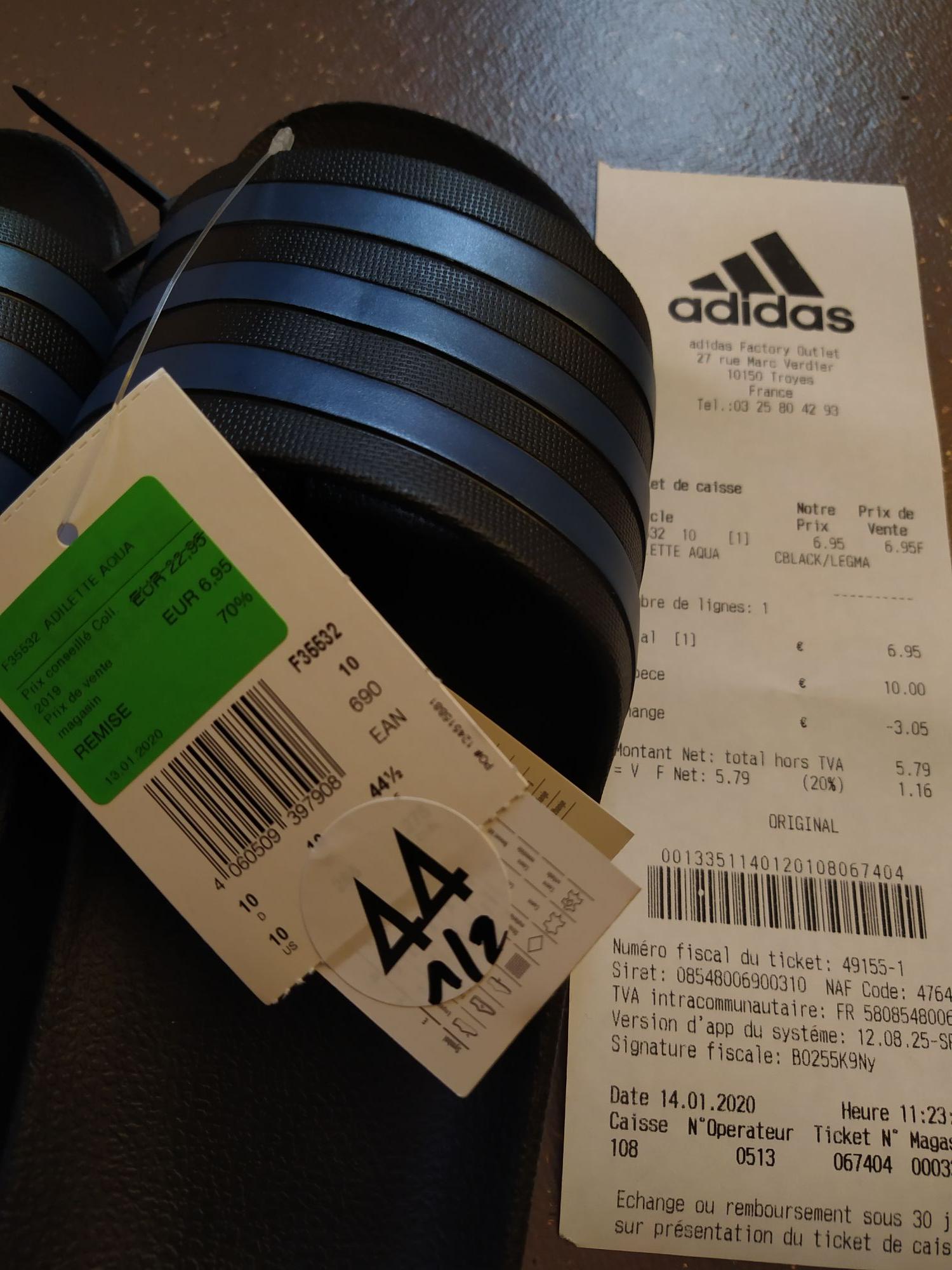 Claquettes Adidas Adilette Aqua - Troyes (10)