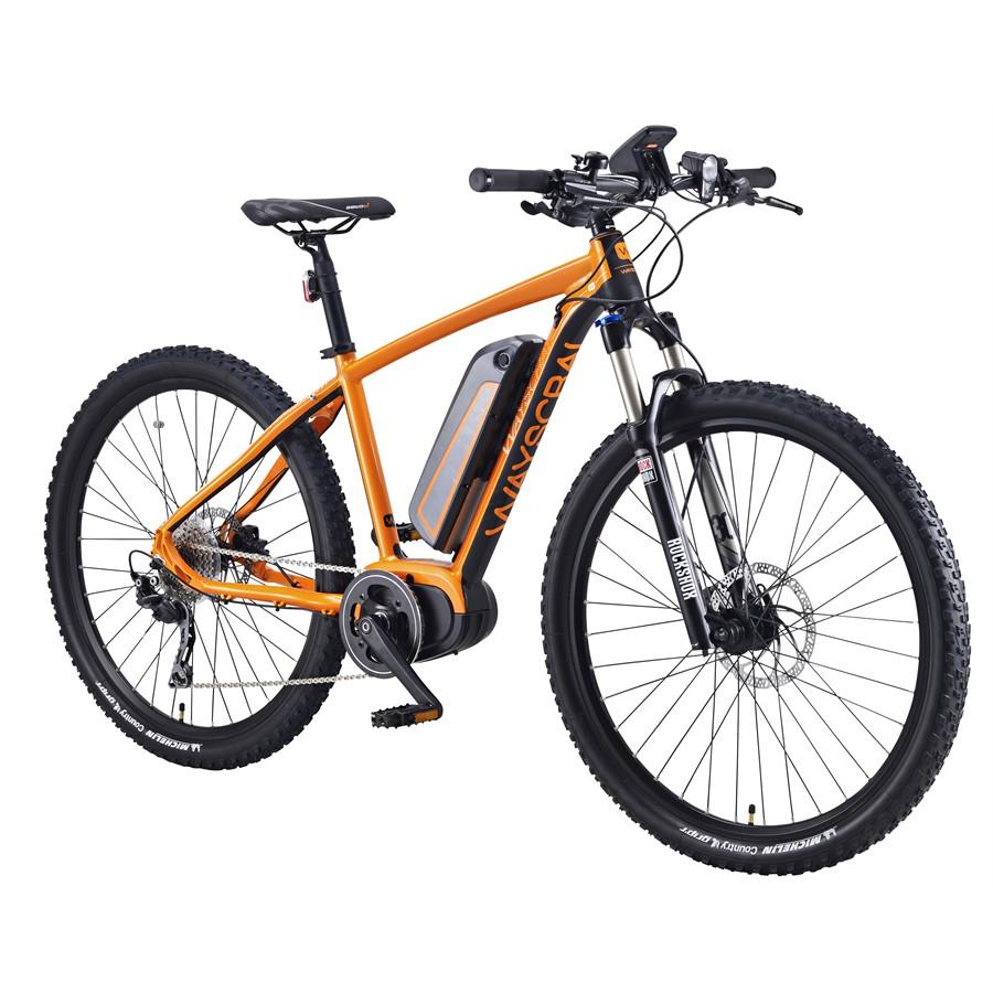 Vélo électrique Wayscral Sporty 755 - Taille M, Orange (batterie incluse)