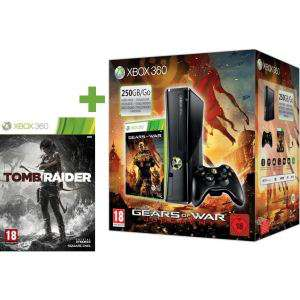 Console XBOX 360 250 Go + Tomb raider + Gears of war Judgment