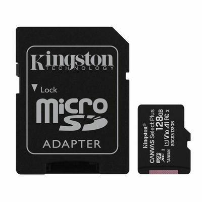 Carte MicroSDXC Kingston Canvas Select Plus - 128 Go + Adaptateur SD