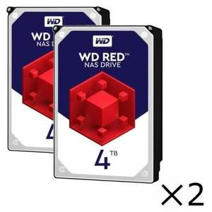 2 Disques Dur Interne NAS Western Digital RED - 4 To, 5400Trs/min