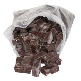 Sachet de chutes de Nougat de Montélimar tendre enrobé de chocolat noir 1 kg
