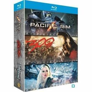 Coffret 3 Blu-Ray : Pacific rim / Sucker Punch  / 300
