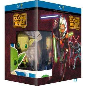 Coffret Blu-ray Star Wars The Clone Wars L'intégrale - Saisons 1 à 5 + figurine Pop! (Funko)