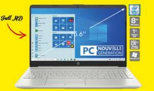 "PC Portable 15.6"" HP 15-dw0099nf - Full HD, i3-7020U, 8 Go RAM, 256 Go SSD + 1 To HDD, Windows 10"