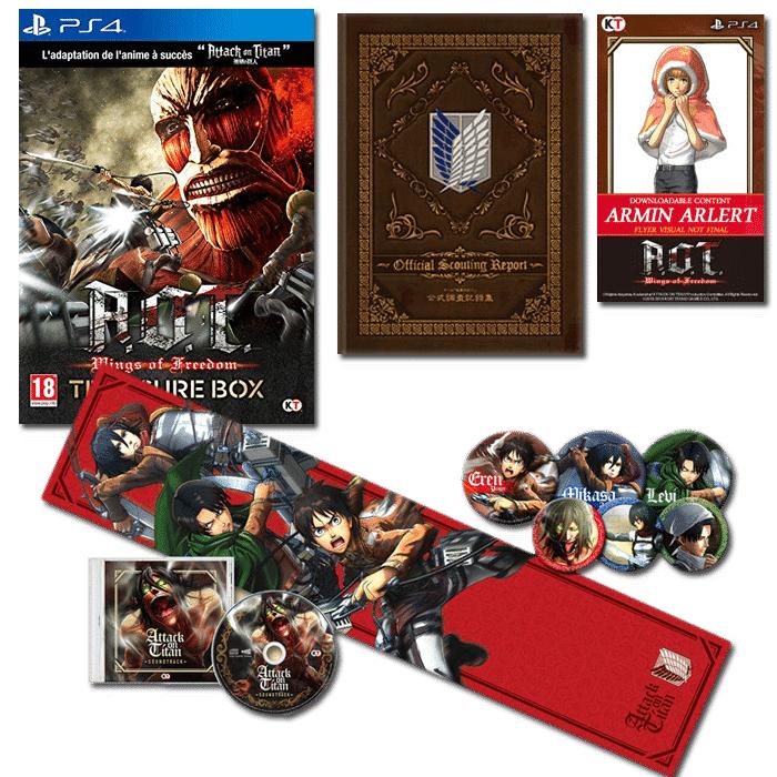 L'attaque des titans édition Collector sur PS4 (Import Espagne)