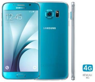 "Smartphone 5.1"" Samsung Galaxy S6 - 32 Go Bleu"