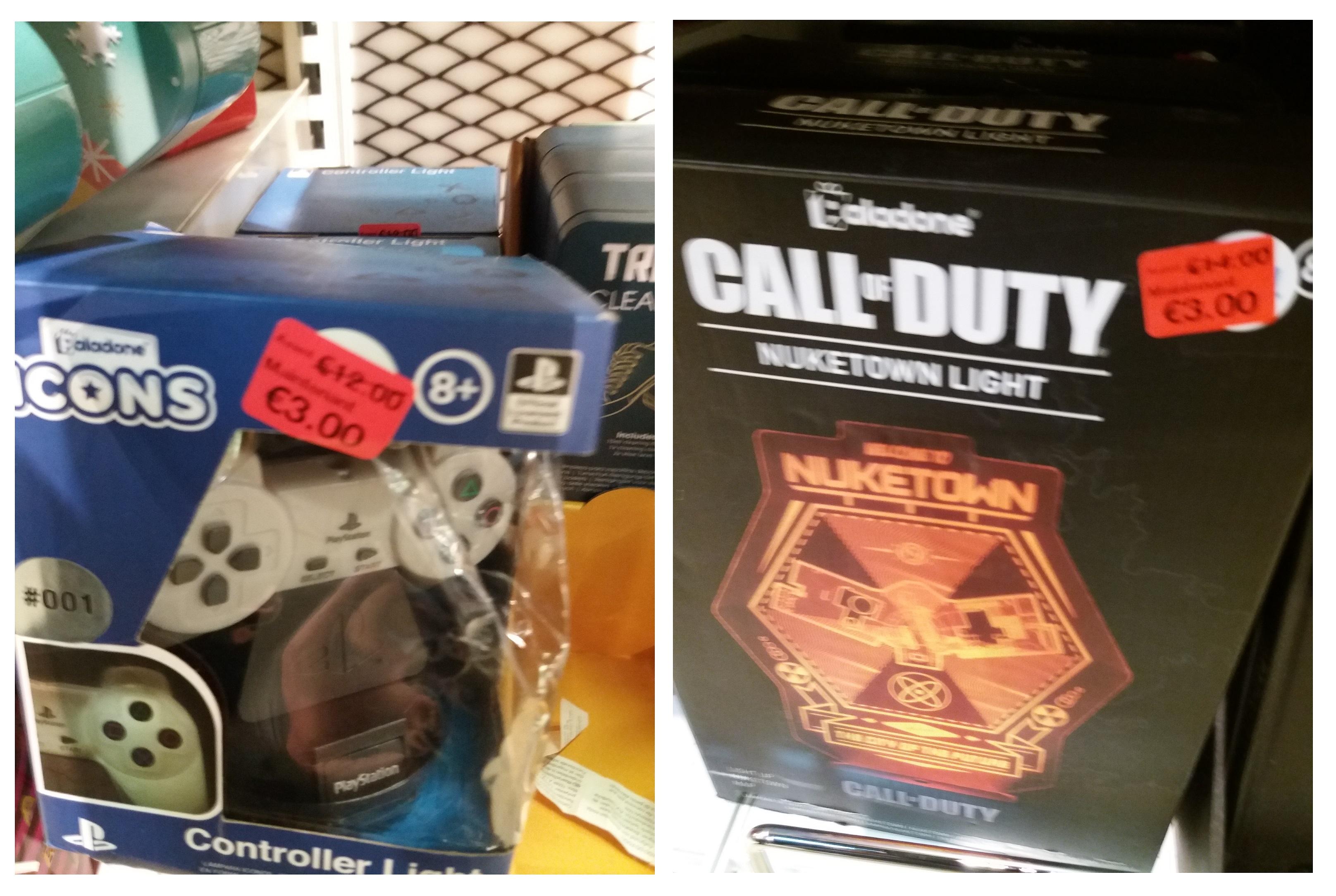 Sélection de lampes de chevet Gaming en promotion - Ex : Call of Duty Nuketown ou Manette PS1 - Dijon (21)