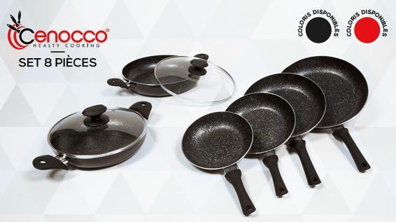 Set de 8 pièces Cenocco Poêles & Sauteuses