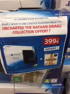 Pack Console Sony PlayStation 4 1 To + Uncharted Collection