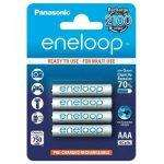 4 piles rechargeables Panasonic Eneloop LR03-AAA 750 mAh Blanc