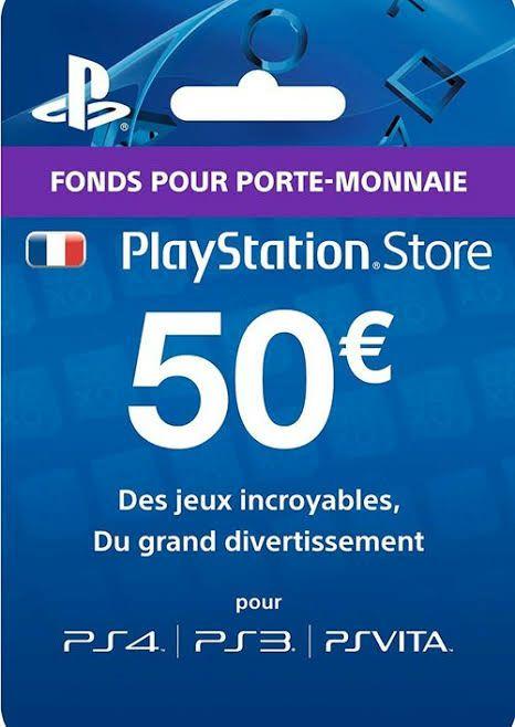 Carte PlayStation Network d'une valeur de 50€ (Dématérialisé)