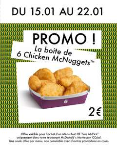 Boîte de 6 Chicken McNuggets - Montesson (78)