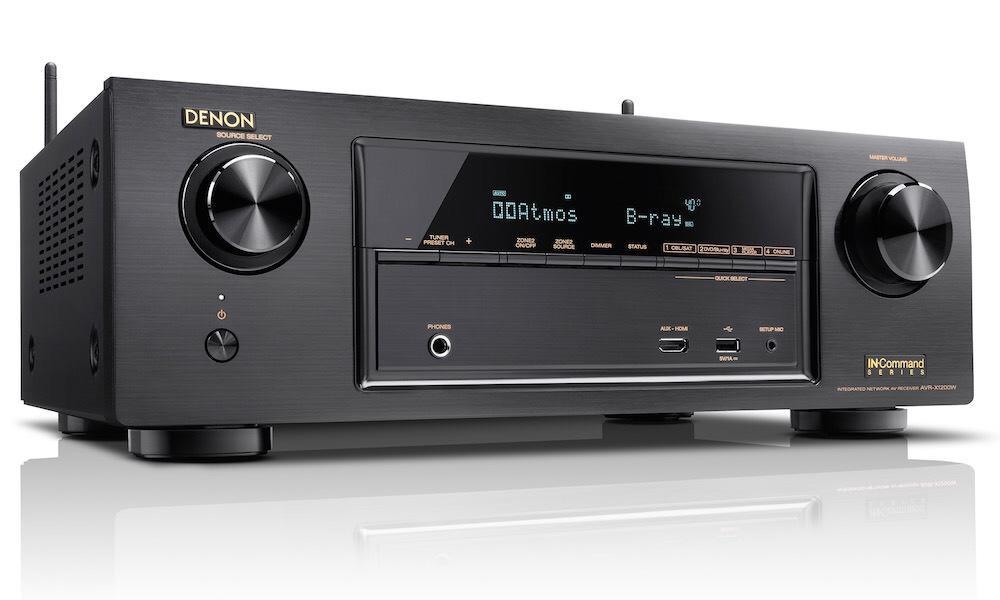 Ampli Denon AVRX1200WBKE2 1200W 7.2 - HDCP 2.2, Spotify, 4K, BT, 7 x 145W
