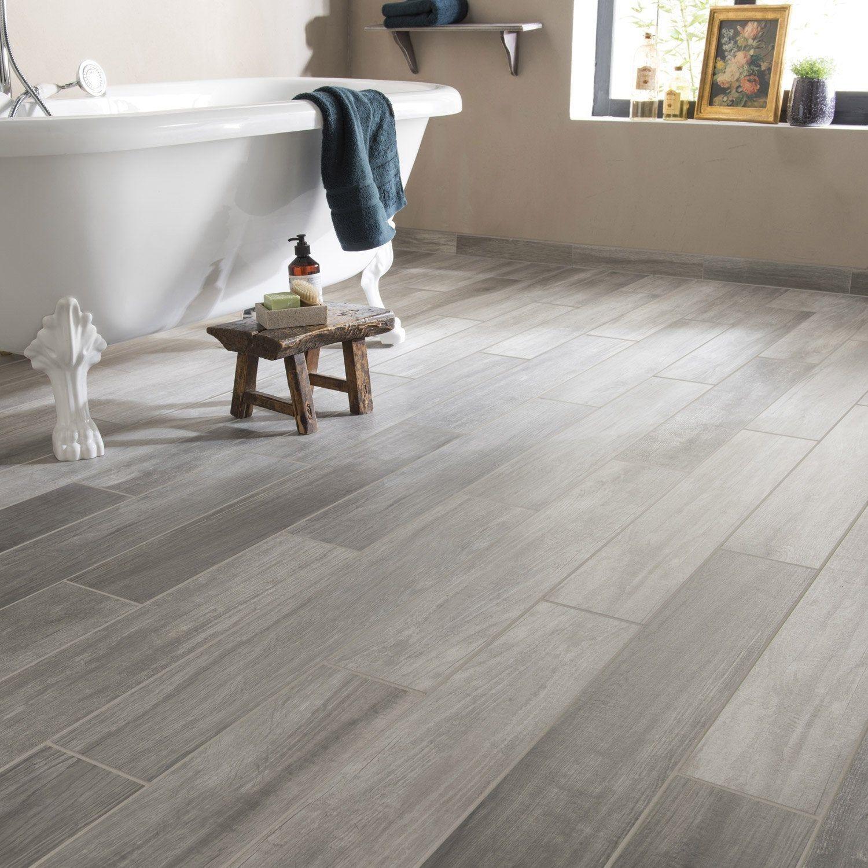 Carrelage sol mur intenso bois gris Supergres Way Grand désir - l.15 x L.90 cm - 14.97/m²