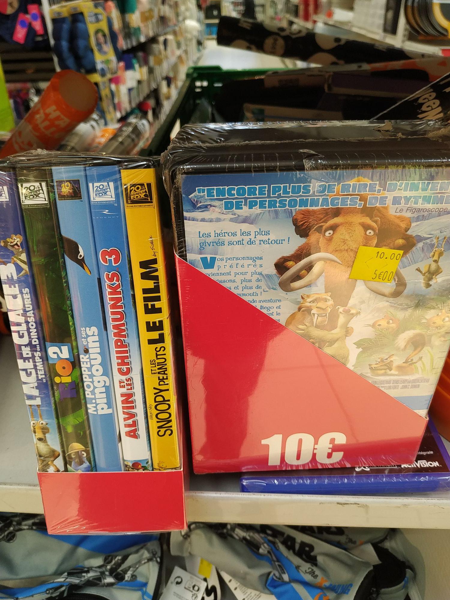Lot de 5 DVD 20th Century Fox pour enfants (Paris Auteuil 75016)