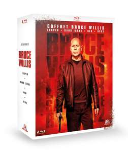 Coffret Blu-ray Bruce Willis : Looper + Sans issue + RED + RED 2