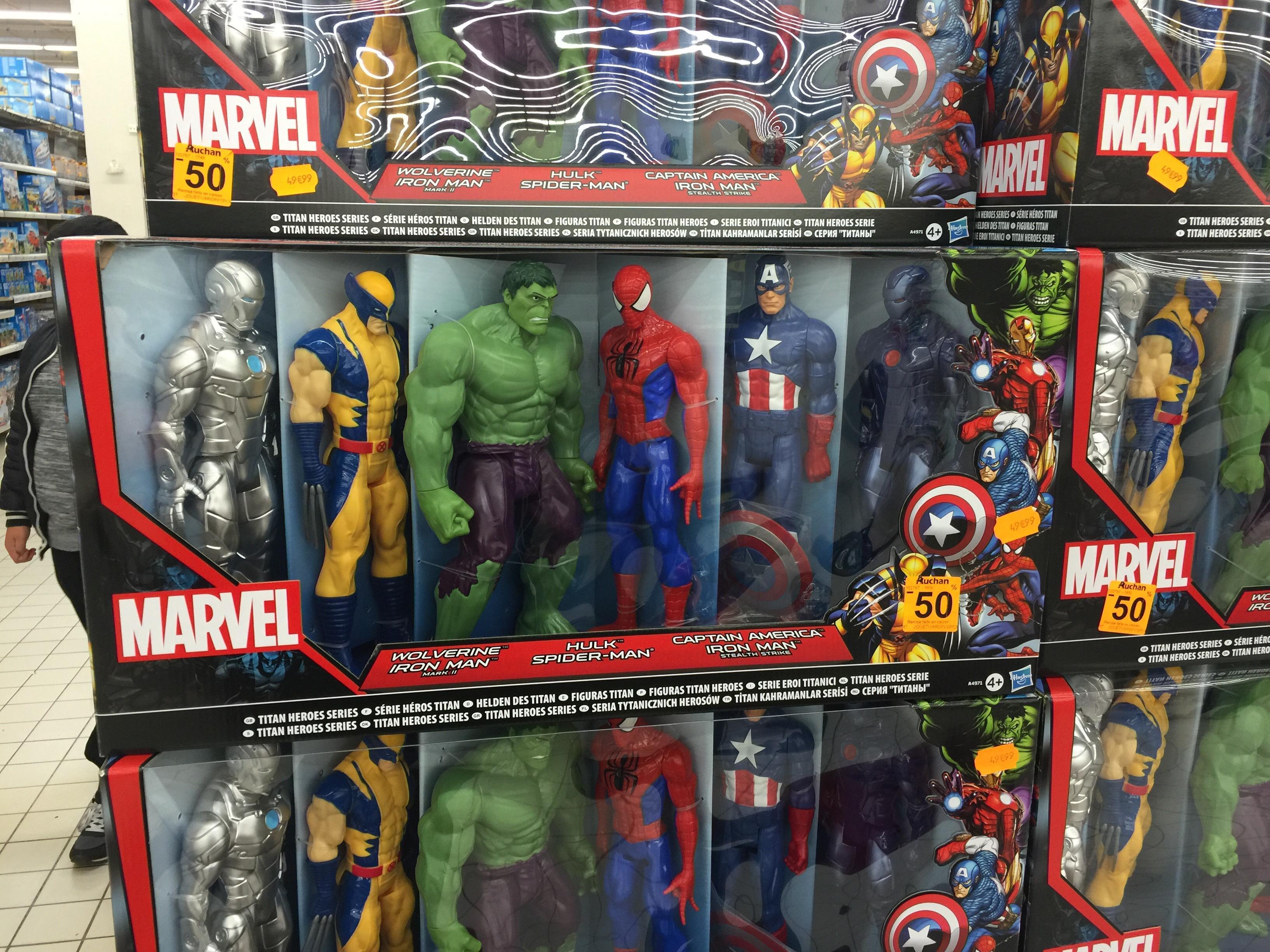 Coffret de 6 figurines Marvel 30 cm