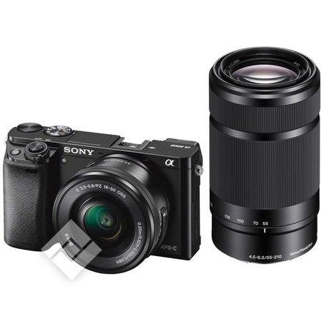 Appareil photo Hybride Sony Alpha 6000 - 24.3Mpix + Objectif 16-50mm + Objectif 55-210mm (Frontaliers Belgique)