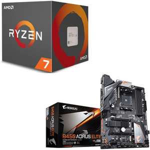 Pack Processeur AMD Ryzen 7 2700X + Carte mère Gigabyte Aorus Elite B450