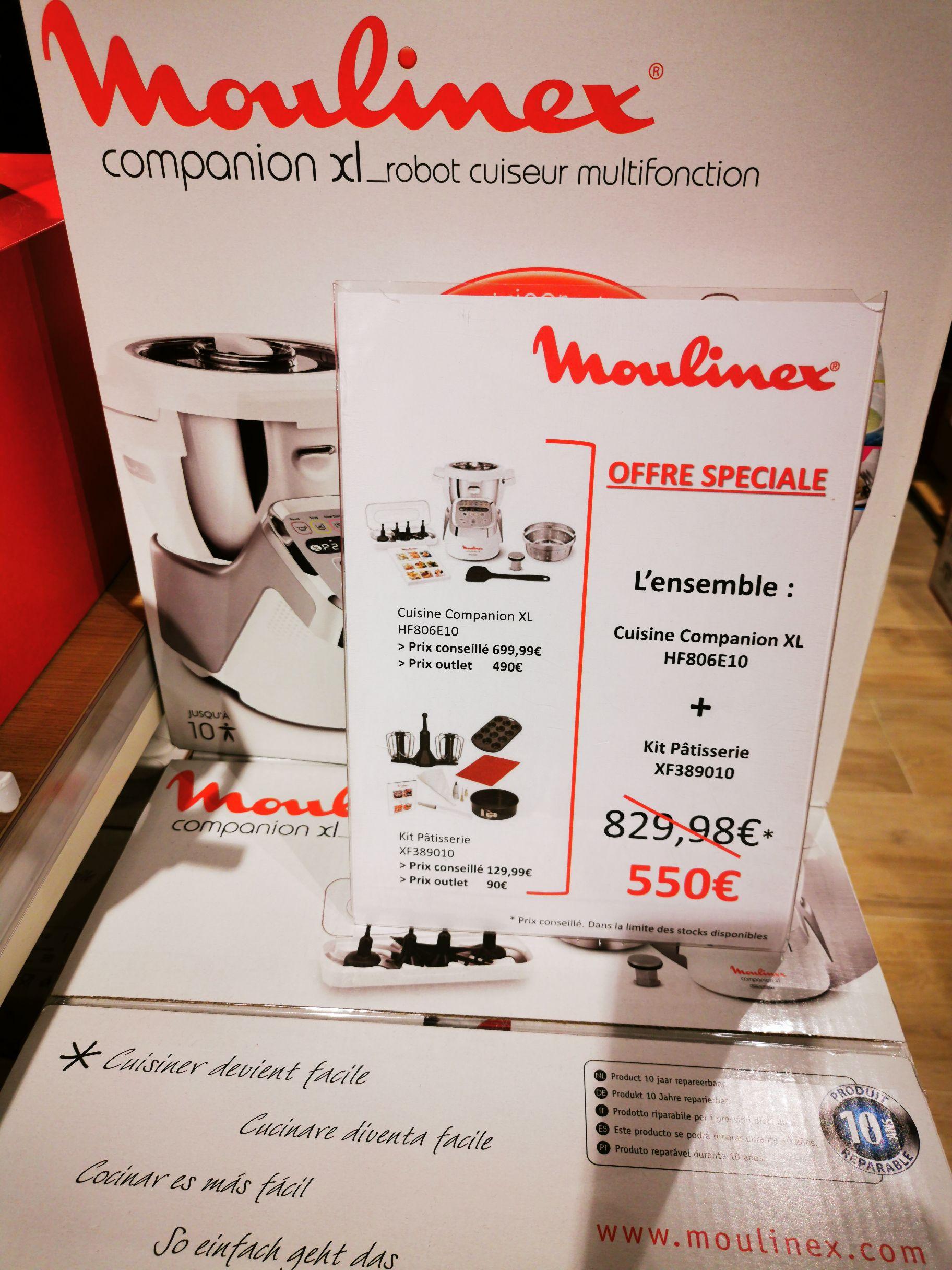 Robot cuiseur Moulinex Companion XL (HF806E10) + Kit pâtisserie (XF389010) - Home & Cook Les Clayes-sous-Bois (78)